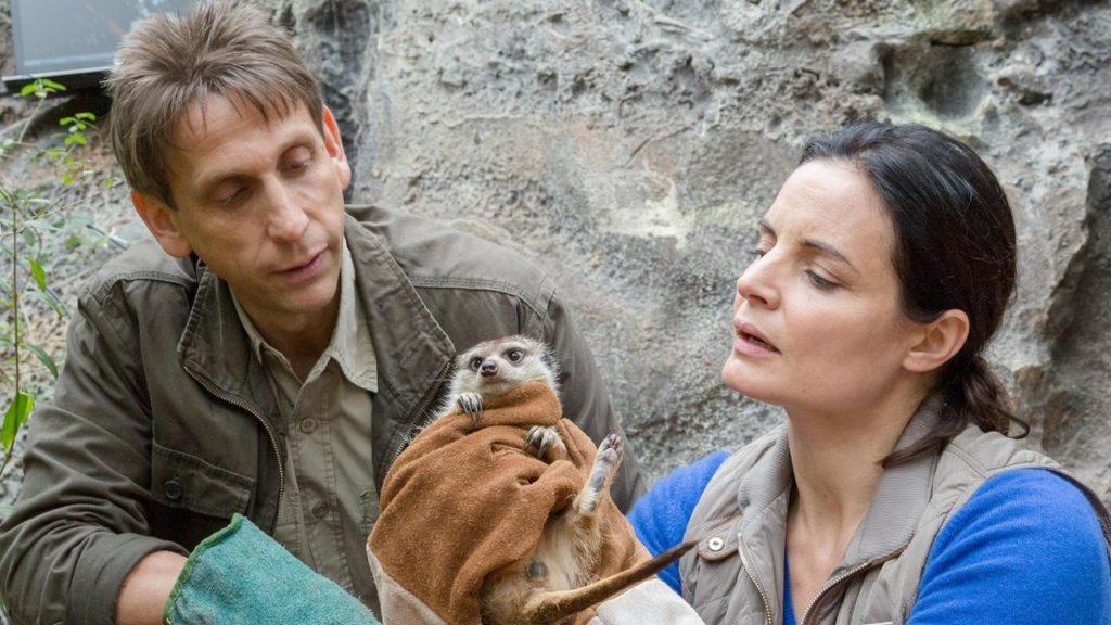 Eilsabeth Lanz, Schauspielerin, Erdmännchen, Arzt, Dr., Dr. Mertens, Zoo Leipzig, Hilfe, Not, Tiere, Wildnis, Retten, Lanz
